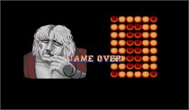 Game Over Screen for Street Fighter II': Champion Edition.