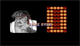 Game Over Screen for Street Fighter II: The World Warrior.