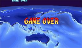 Game Over Screen for Street Fighter III: New Generation.