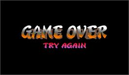 Game Over Screen for Street Fighter Zero 2 Alpha.