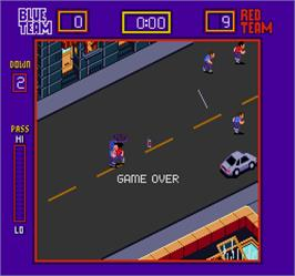 Game Over Screen for Street Football.