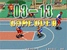 Game Over Screen for Street Hoop / Street Slam / Dunk Dream.