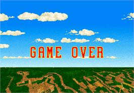 Game Over Screen for Strike Fighter.