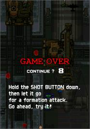 Game Over Screen for Strikers 1945.