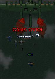 Game Over Screen for Strikers 1945 II.