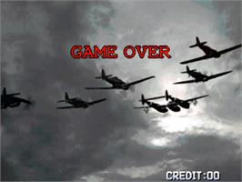 Game Over Screen for Strikers 1945 Plus.