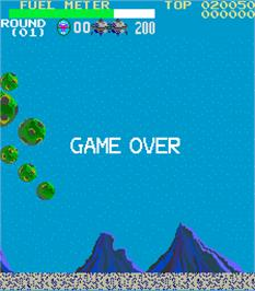 Game Over Screen for Submarine.