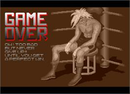 Game Over Screen for Success Joe.