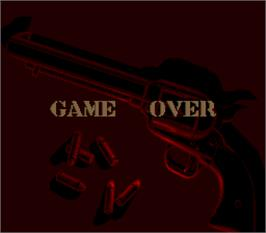 Game Over Screen for Sunset Riders.