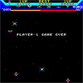 Game Over Screen for Super Astro Fighter.