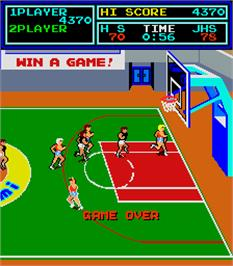Game Over Screen for Super Basketball.