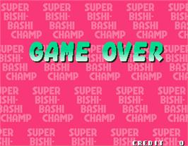 Game Over Screen for Super Bishi Bashi Championship.