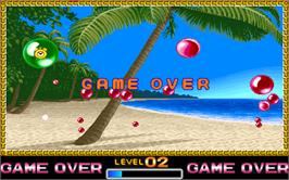 Game Over Screen for Super Buster Bros..