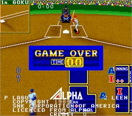 Game Over Screen for Super Champion Baseball.
