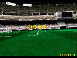 Game Over Screen for Super Football Champ.