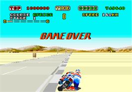 Game Over Screen for Super Hang-On.