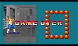 Game Over Screen for Super Muscle Bomber: The International Blowout.