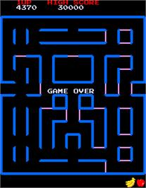 Game Over Screen for Super Pac-Man.