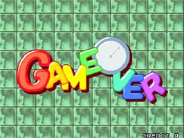 Game Over Screen for Super Puzzle Bobble.