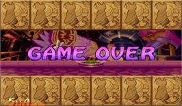 Game Over Screen for Super Puzzle Fighter II Turbo.