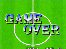 Game Over Screen for Super Sidekicks / Tokuten Ou.
