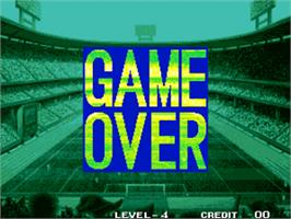 Game Over Screen for Super Sidekicks 2 - The World Championship / Tokuten Ou 2 - real fight football.