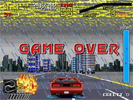 Game Over Screen for Super Special Criminal Investigation.