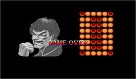 Game Over Screen for Super Street Fighter II: The New Challengers.