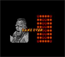 Game Over Screen for Super Street Fighter II - The New Challengers.