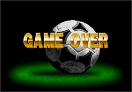 Game Over Screen for Super Visual Soccer: Sega Cup.
