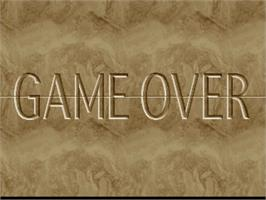 Game Over Screen for Susume! Taisen Puzzle-Dama.
