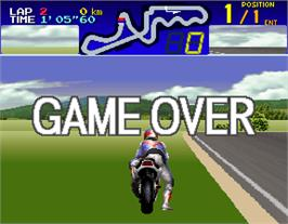 Game Over Screen for Suzuka 8 Hours.