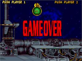 Game Over Screen for TH Strikes Back.
