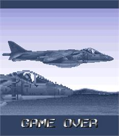 Game Over Screen for Task Force Harrier.