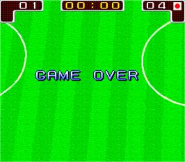 Game Over Screen for Tecmo World Cup '90.