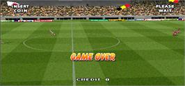 Game Over Screen for Tecmo World Cup Millennium.