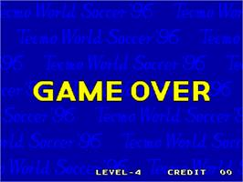 Game Over Screen for Tecmo World Soccer '96.