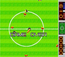 Game Over Screen for Tehkan World Cup.