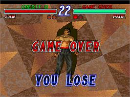 Game Over Screen for Tekken 2.