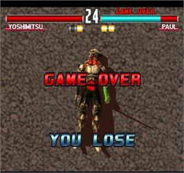 Game Over Screen for Tekken 3.
