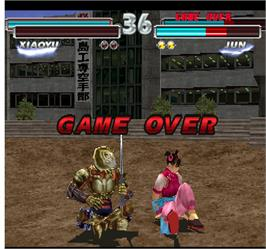 Game Over Screen for Tekken Tag Tournament.