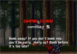 Game Over Screen for Tengai.