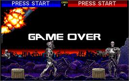 Game Over Screen for Terminator 2 - Judgment Day.