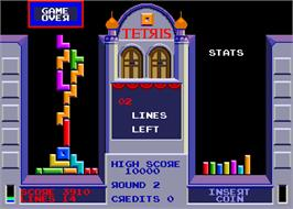 Game Over Screen for Tetris.