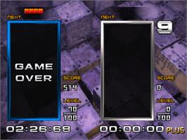 Game Over Screen for Tetris the Absolute The Grand Master 2 Plus.