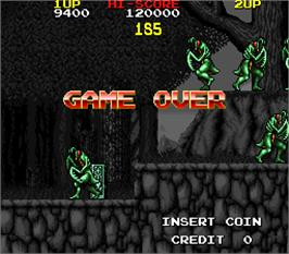 Game Over Screen for The Astyanax.