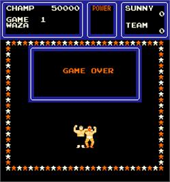 Game Over Screen for The Big Pro Wrestling!.