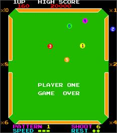 Game Over Screen for The Billiards.