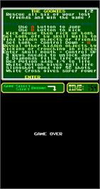 Game Over Screen for The Goonies.