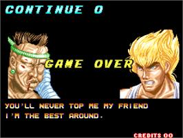 Game Over Screen for The History of Martial Arts.